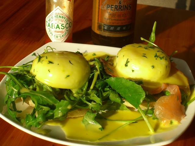Beijing Brunch - Eggs Benedict with Salmon