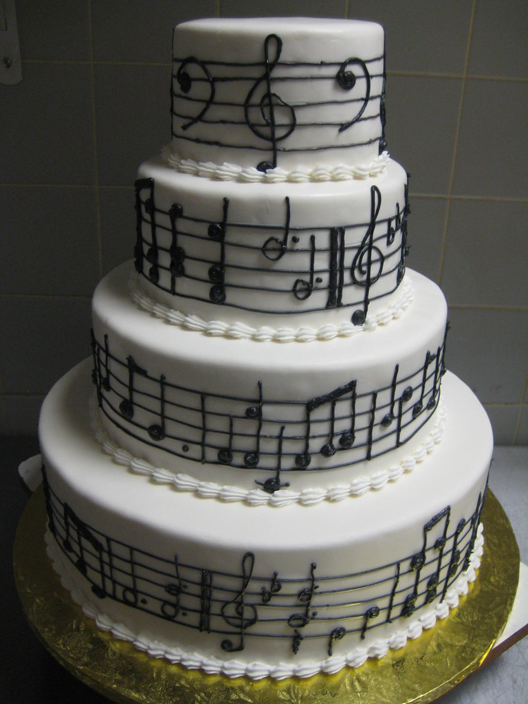 Cake Design Musical Notes : music notes wedding cake - a photo on Flickriver