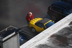 Santa drives a yellow Miata?