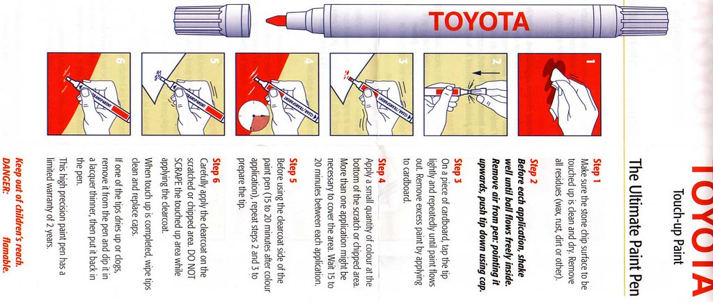 Toyota rav4 forums view single post touch up paint pen for Toyota paint touch up pen