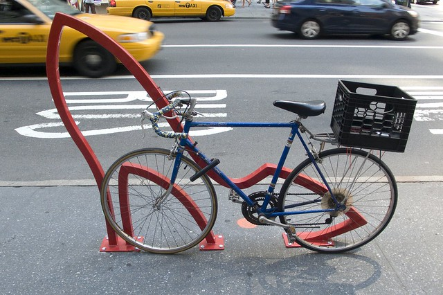 David Byrne Bike Rack on 58th street