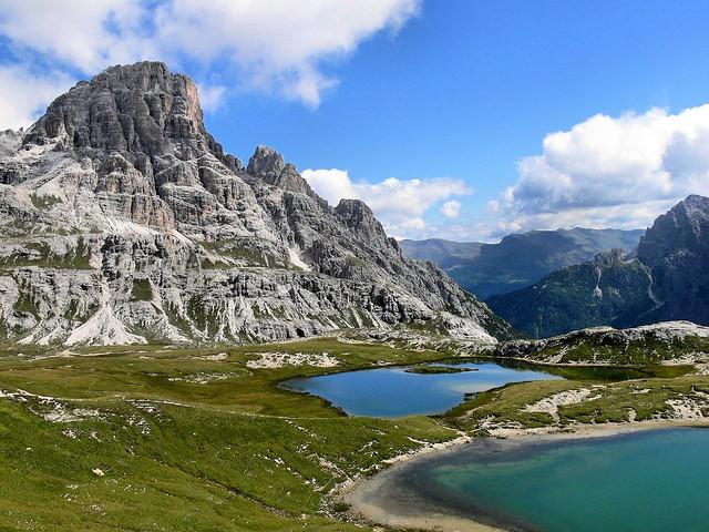 Cadena montañosa de las Dolomitas, los Alpes italianos
