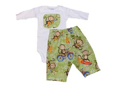 shorts(0.0), baby products(0.0), pattern(1.0), baby & toddler clothing(1.0), clothing(1.0), sleeve(1.0), t-shirt(1.0),