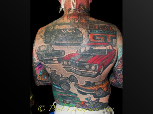 tattoo and fashion pics and hair care and new hairstyles full back tattoo of muscle cars. Black Bedroom Furniture Sets. Home Design Ideas