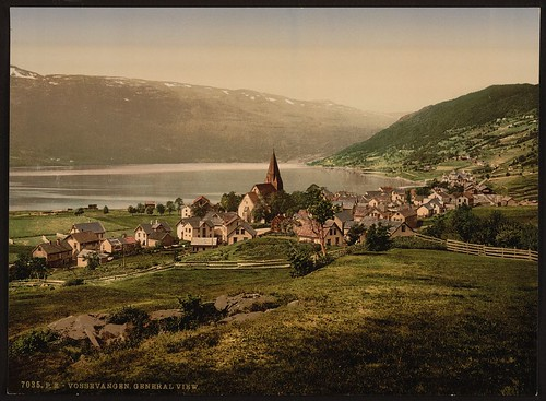 Vossevangen, general view [Lake Vangsvatnet, Norway] (LOC)