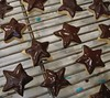 chocolate dipped shortbread stars