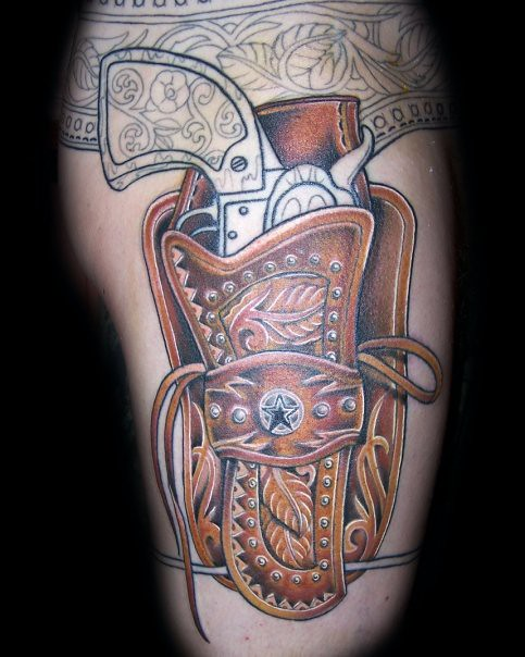 Holster flickr photo sharing for Gun holster tattoo