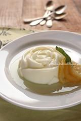 Crema rovesciata con limoni caramellati