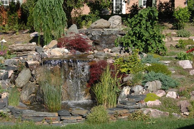 Backyard Waterfall And Rock Gardens 0296 Flickr Photo