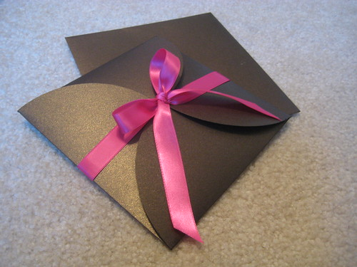 Brown & Pink Petal Invitation