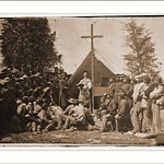 Sunday Morning Mass. Camp of 69th N.Y. SM Date: c. 1860