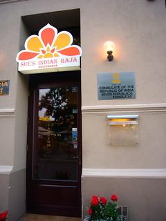 Indian Consulate at Sue's Indian Raja Restaurant