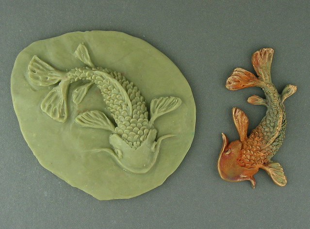 Mold and finished koi flickr photo sharing for Koi fish mold