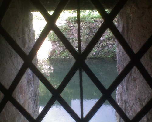 Looking out at the moat