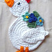 crochet chicken potholder by meekssandygirl