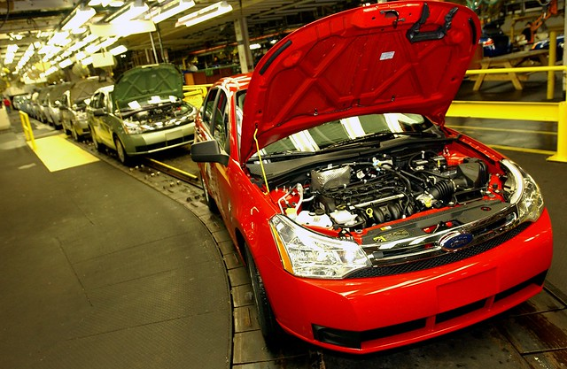 The newly redesigned 2008 ford focus at wayne assembly for Ford motor company wayne mi