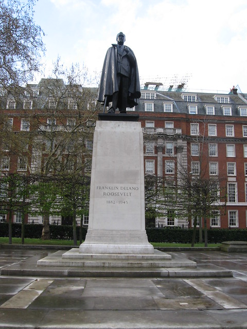 Statue Of Franklin Roosevelt In Grosvenor Square Flickr Photo Sharing