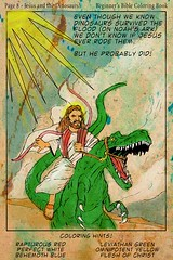 Jesus probably rode dinosaurs.