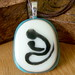 Mother and Child Fused Glass Pendant by firechicktick