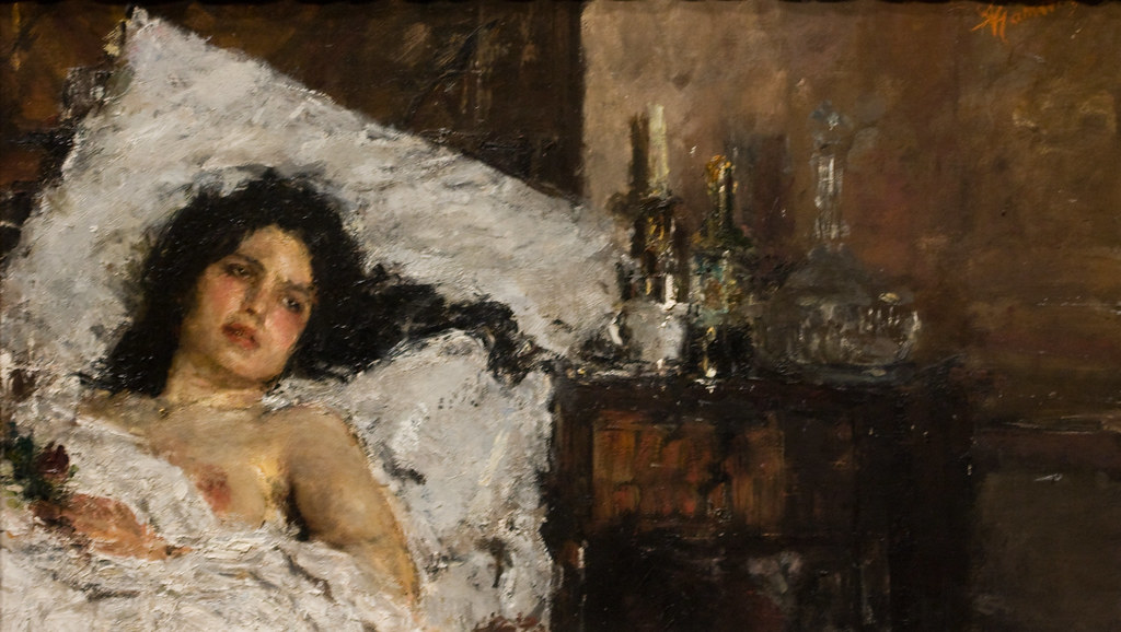 Antonio Mancini: Resting by unbearable lightness
