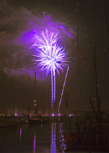 Fireworks in Santa Barbara, CA. Image courtesy Damian Gadal.