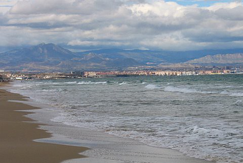 CARABASI BEACH WITH VIEW ON ALICANTE