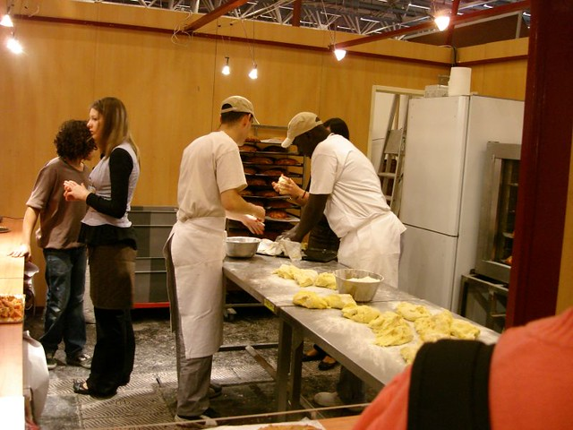 Pralus Booth, making Brioches