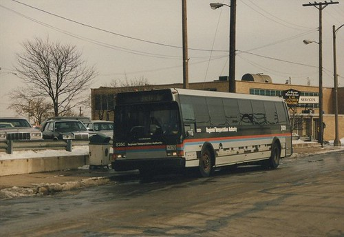 RTA bus in La Grange Illinois. January 1987. by Eddie from Chicago