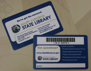 The New SC State Library Cards have Arrived!