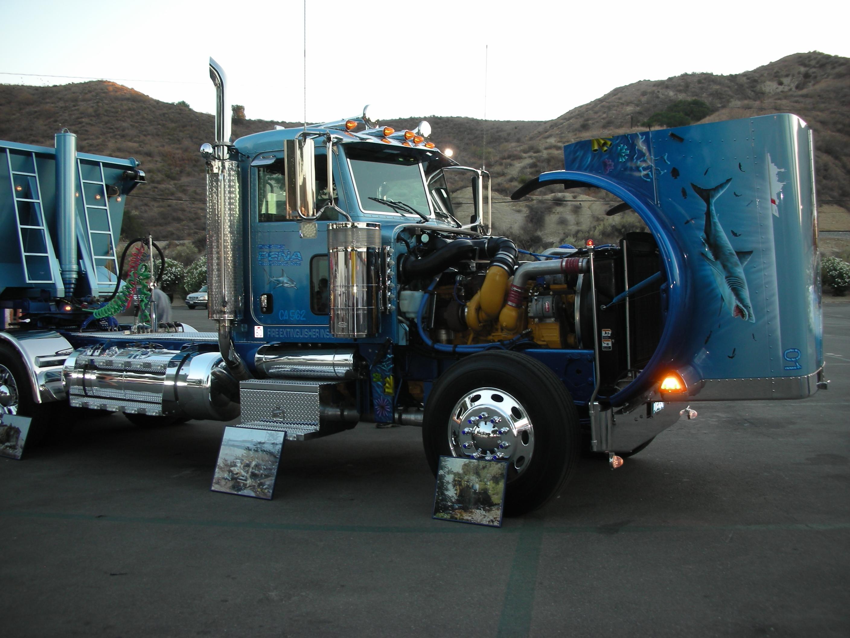Custom semi trucks chevy pickup truck custom