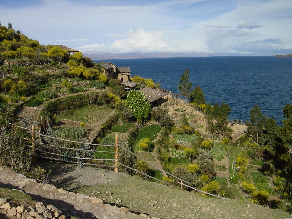 Terraced gardens on Isla del Sol, Lago Titicaca