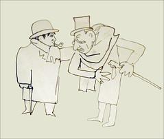 Dessin de Jean Cocteau (Ballets russes, Opéra)