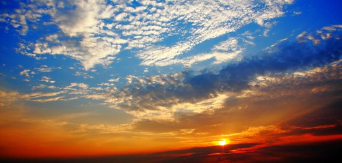 ocean blue sunset orange color beach water sunrise canon nc waves north atlantic carolina 40d