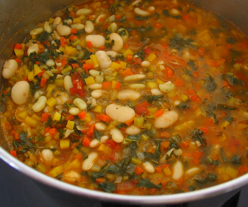 the resulted minestrone soup