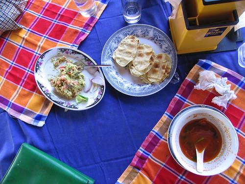 Guacamole, Poppadoms, and Tomato Soup  - Bagan, Myanmar (Burma)