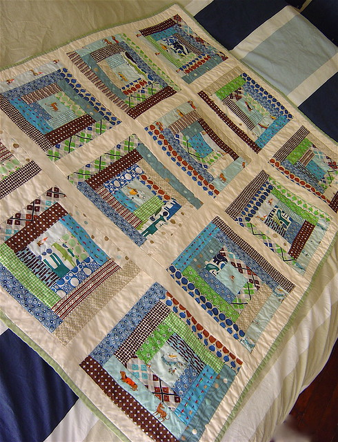 Log Cabin Baby Boy Quilt Flickr Photo Sharing