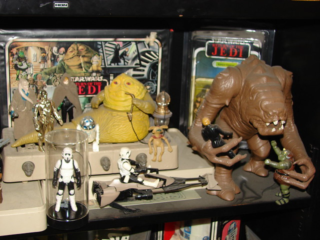 Vintage 1977 1984 Star Wars Toys Rancor And Jabba
