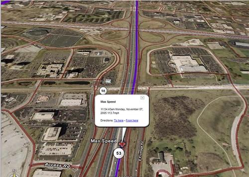 Google Earth GPS Tracking Data