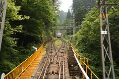 funicular, vehicle, transport, rail transport, public transport, rolling stock, track, bridge,