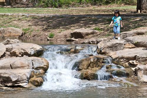 park motion oklahoma water fun landscapes sticks nikon joy daughter float idyllic d40x 55200mmvr
