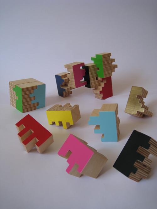 Wood blocks dark