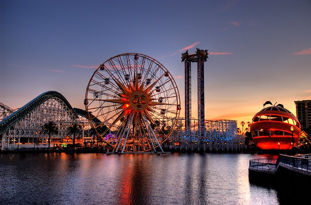 "Disneyland ""California"" Boardwalk at Sunset"