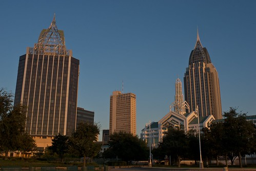 city wedding mobile skyline architecture marriott sunrise buildings downtown time outdoor details alabama architectural spire conventioncenter 2008 riverviewhotel imagetype photospecs stockcategories september2008 arthurroutlawmobileconventioncenter