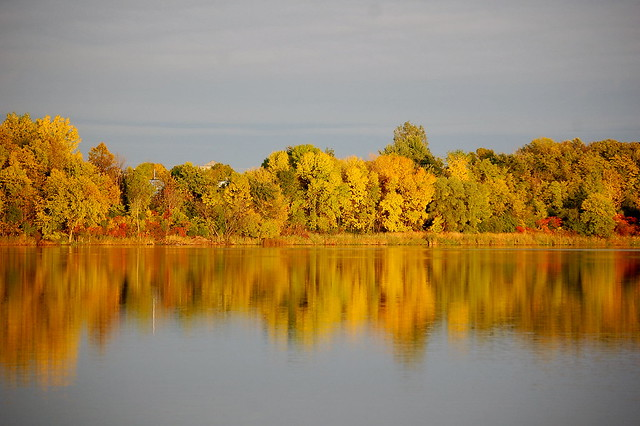 Lake Hazeltine at sunset