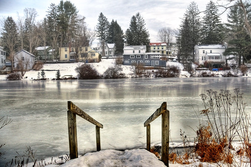 winter lake snow ny newyork ice geotagged frozen hdr narrowsburg mudpig stevekelley narrowsburgny