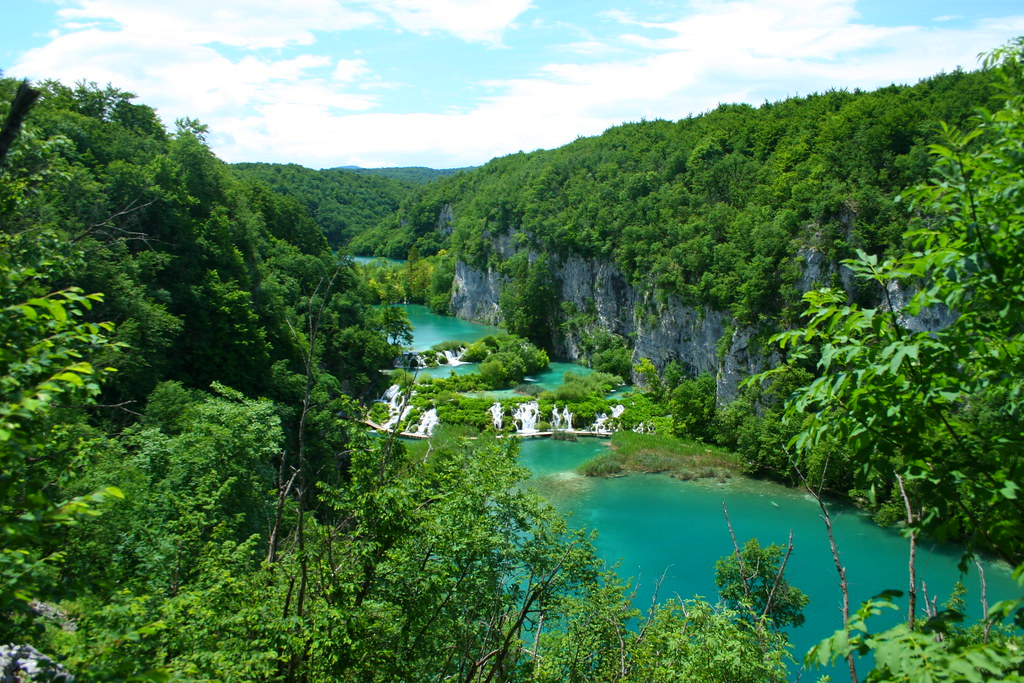 Plitvice aerial view