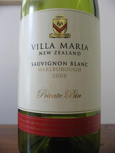Villa Maria Private Bin Marlborough Sauvignon Blanc 2008
