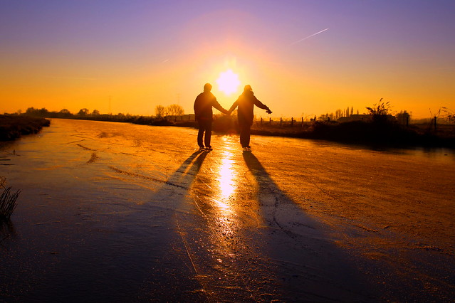 Lovers on ice.