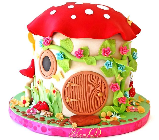 How To Make A Fairy Mushroom House Cake