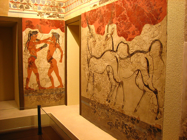 Wall mural ancient greek flickr photo sharing for Ancient greek mural